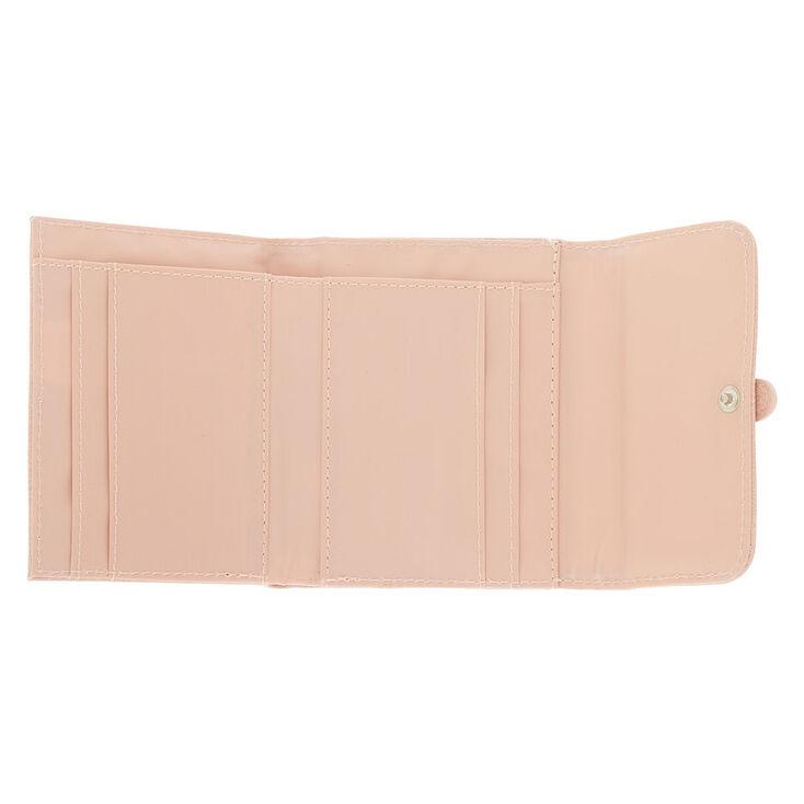 Trifold Crochet Wallet - Pink,