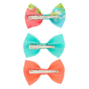 Tropical Mix Hair Bow Clips - 3 Pack,