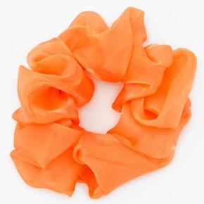 Giant Satin Hair Scrunchie - Orange,