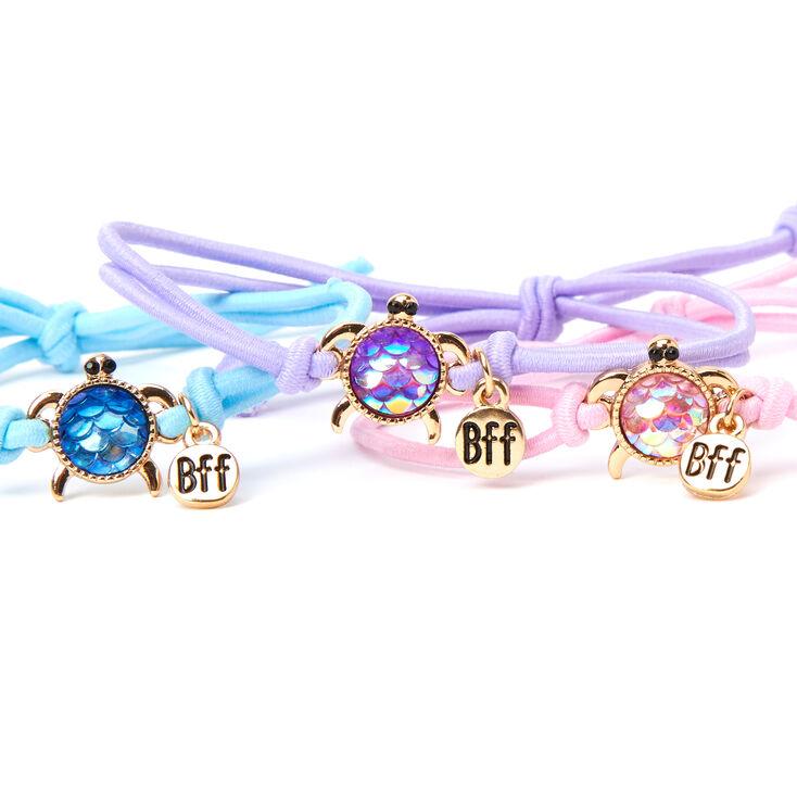 Gemstone Turtle BFF Friendship Bracelets - 3 Pack,
