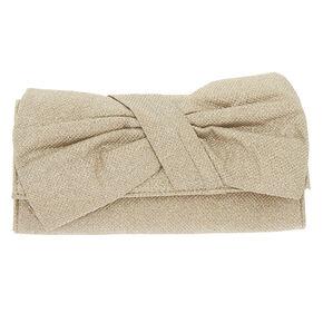 Bow Clutch Purse - Gold,