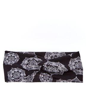Black & White Mandala Headwrap,