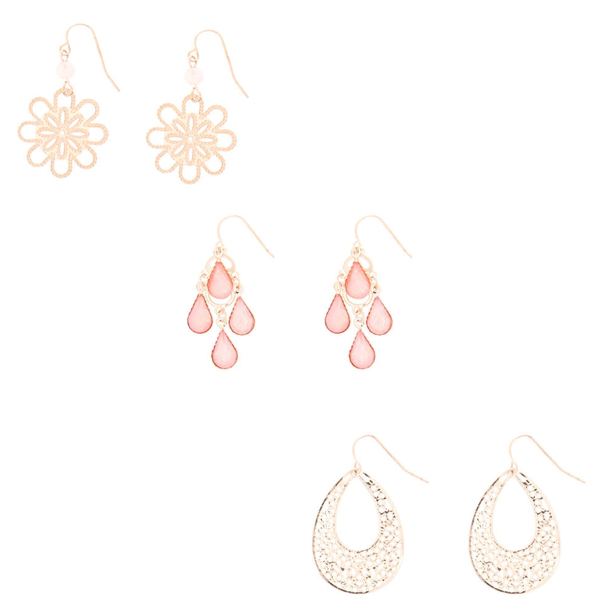 product store chain rose top gold drop earrings droplets online delicate a for wrap d quartz
