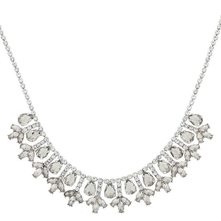 Silver Elegant Statement Necklace,