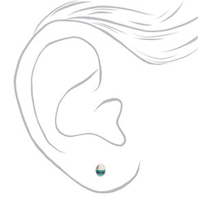 Mixed Metal Celestial Shape Stud Earrings - 6 Pack,