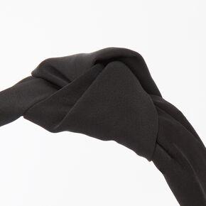 Satin Knotted Headband - Black,