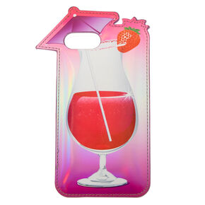 Puffy Strawberry Daiquiri Phone Case - Fits iPhone 6/7/8 Plus,