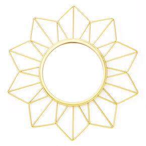 Sun Burst Accent Mirror - Gold,