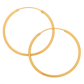 18kt Gold Plated 20MM Hoop Earrings,