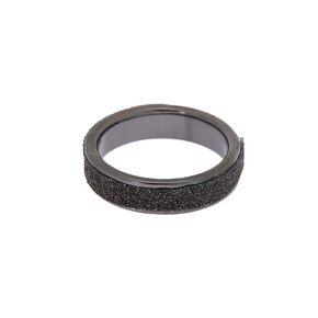 Glitter Midi Ring - Black,