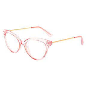 Mod Transparent Clear Lens Frames - Pink,