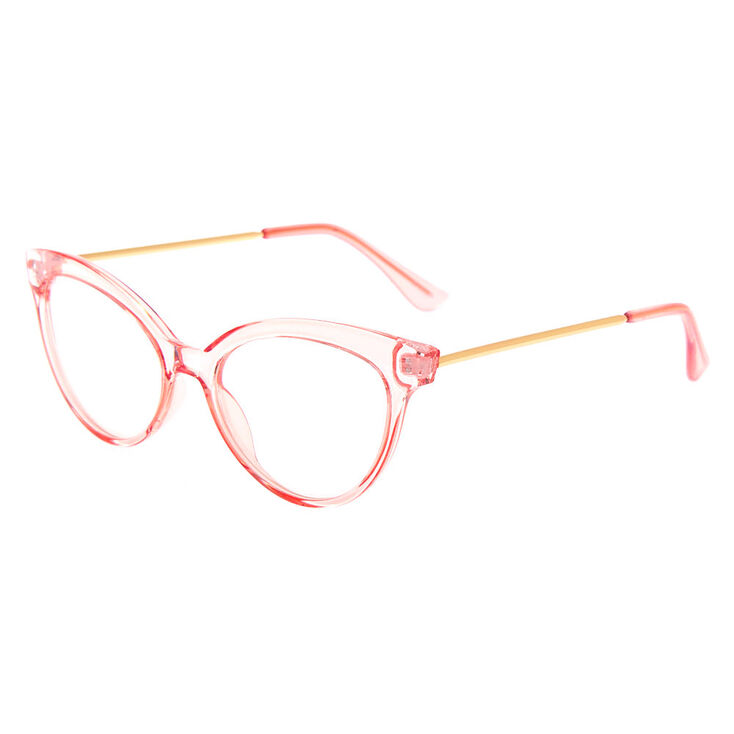 What Did Women Wear in the 1950s? 1950s Fashion Guide Icing Mod Transparent Clear Lens Frames - Pink $12.99 AT vintagedancer.com