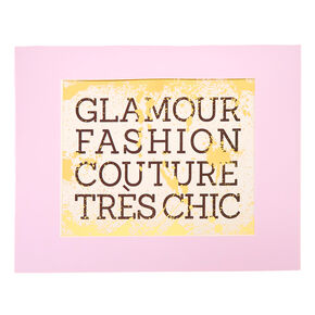 Glamour Fashion Wall Art,