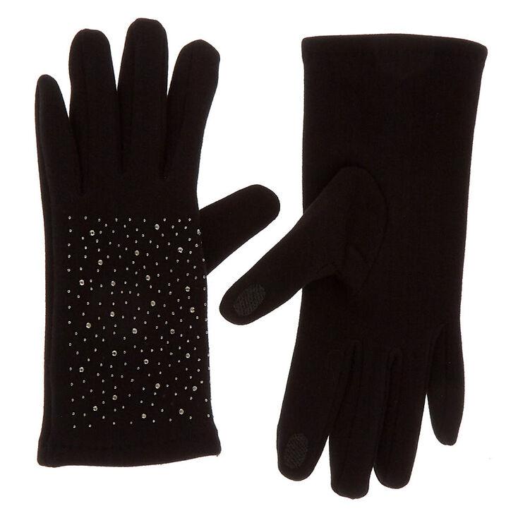 Bling Touchscreen Gloves - Black,