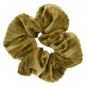 Ribbed Velvet Hair Scrunchie - Green,
