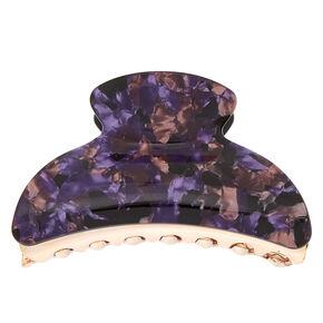 Foil Flake Hair Claw - Purple,