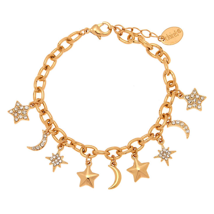 Gold Celestial Charm Bracelet,