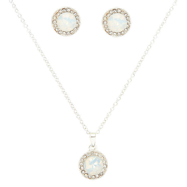 Opal Pave Jewelry Set,