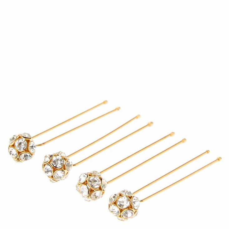Gold Tone Fireball Hair Pins,