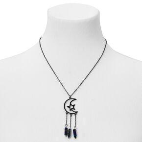Black Celestial Moon Statement Necklace,