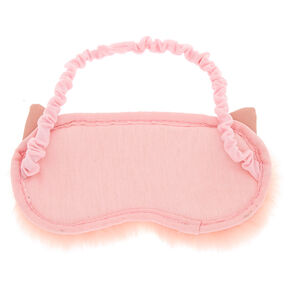 Furry Cat Ears Sleeping Mask - Pink,