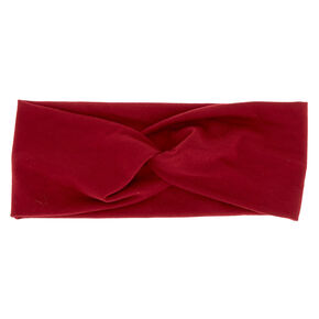 Wide Jersey Twisted Headwrap - Burgundy,