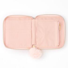 Pink Marble Mini Zip Wallet,