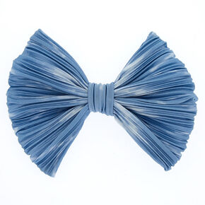 Pleated Tie Dye Bow - Blue,
