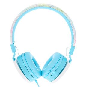 Rainbow Marble Headphones - Turquoise,