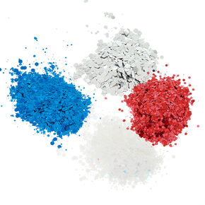 4th of July Unicorn Dust Body Glitter - 4 Pack,