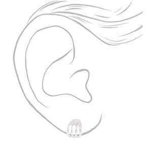 Silver Skeleton Hand Stud Earrings,