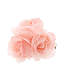 Blush Chiffon Rose Trio Hair Clip,