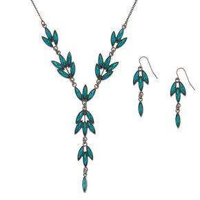Hematite Vine Jewelry Set - Green, 2 Pack,