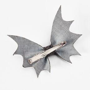 Sequin Bat Hair Bow Clips - Black, 2 Pack,