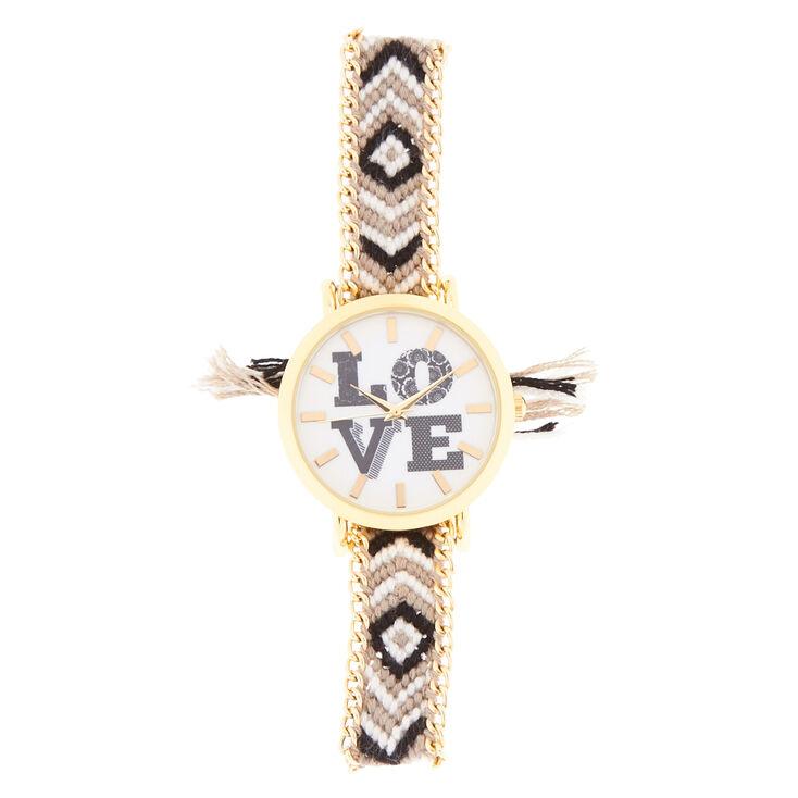 LOVE Watch With Chevron Yarn Band,