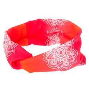 Tropical Mandala Headwrap - Hot Pink,