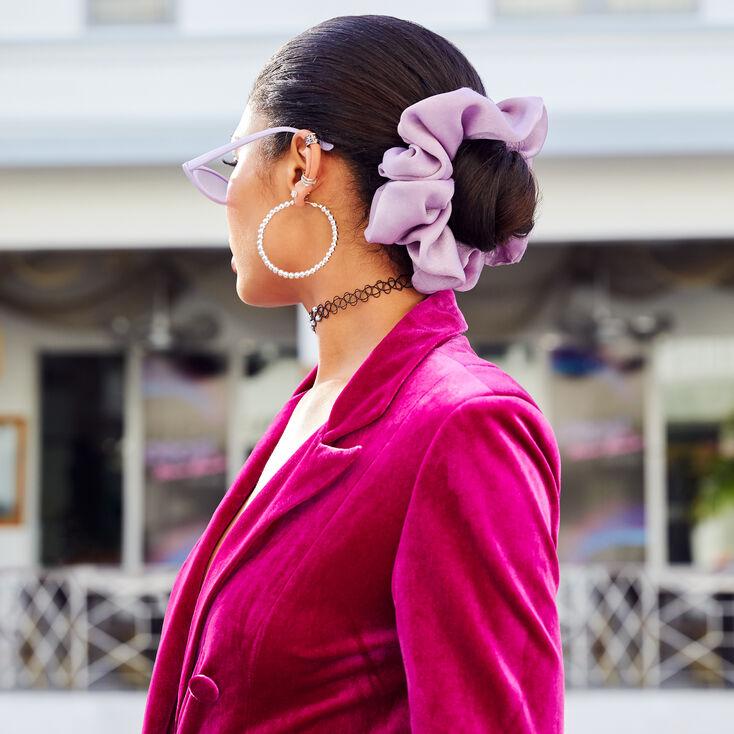 Giant Satin Hair Scrunchie - Blush Pink,
