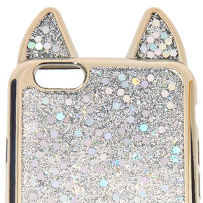 Metallic Silver Cat Phone Case - Fits iPhone 6/7/8,