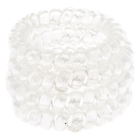 Clear Mini Coil Scrunchies,