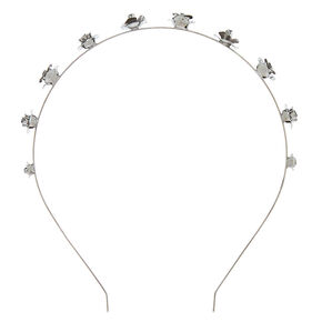 Hematite Metal Roses Headband,
