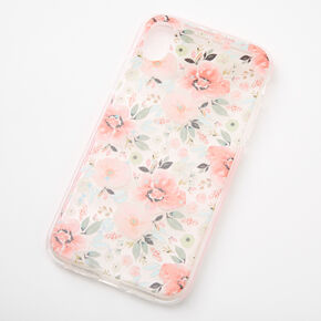 Coral Floral Protective Phone Case - Fits iPhone XR,