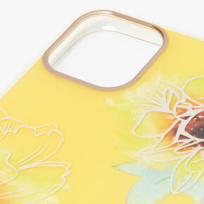Yellow Floral Phone Case - Fits iPhone 11 Pro,