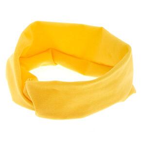 Wide Jersey Headwrap - Yellow,