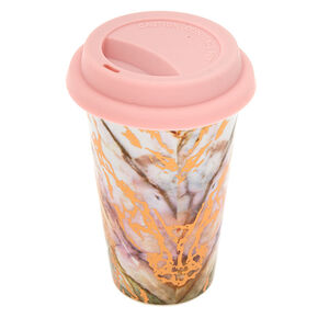 Ceramic Marble Travel Mug - Rose Gold,