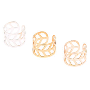 Mixed Metal Arrow Ear Cuffs - 3 Pack,