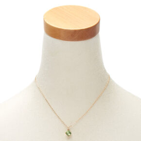 August Birthstone Pendant Necklace - Peridot,
