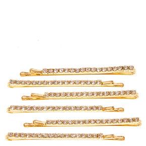 Gold Linear Hair Pins,