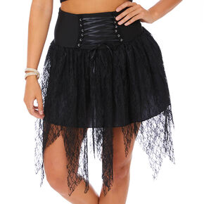 Witch Lace Up Tutu - Black,