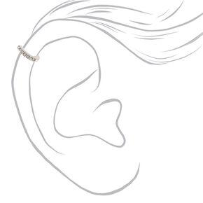 Silver Eternity Stone Cartilage Hoop Earring,