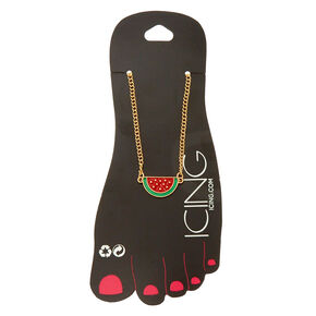 Watermelon Gold Anklet,